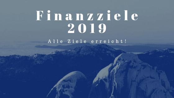 Finanzziele 2019 erreicht