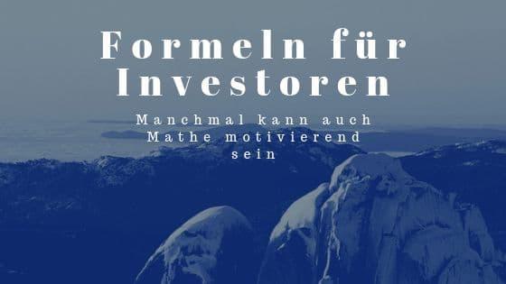 Formeln für Investoren