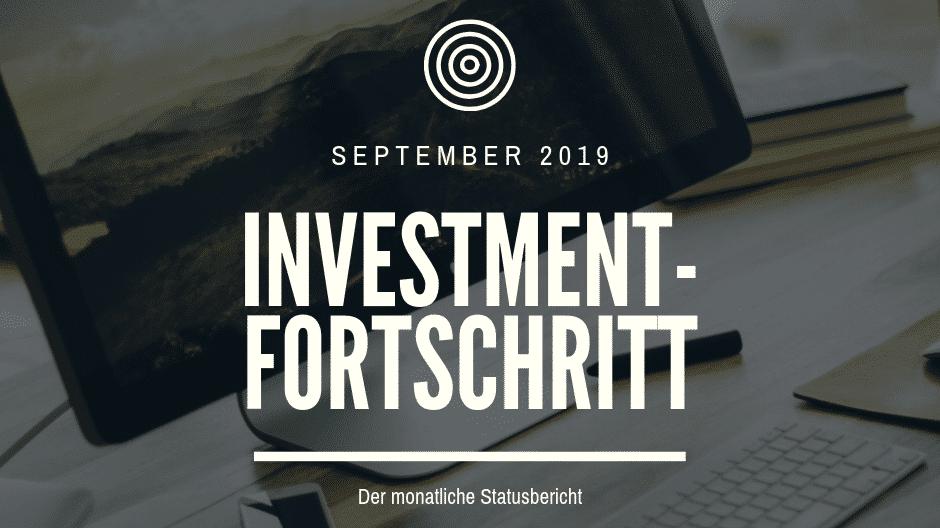 Der monatliche Statusbericht September 2019