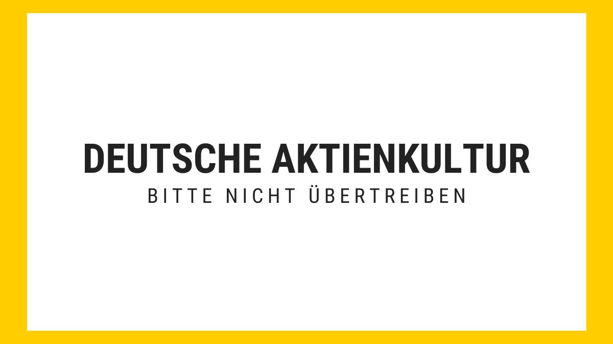 Aktienkultur in Deutschland